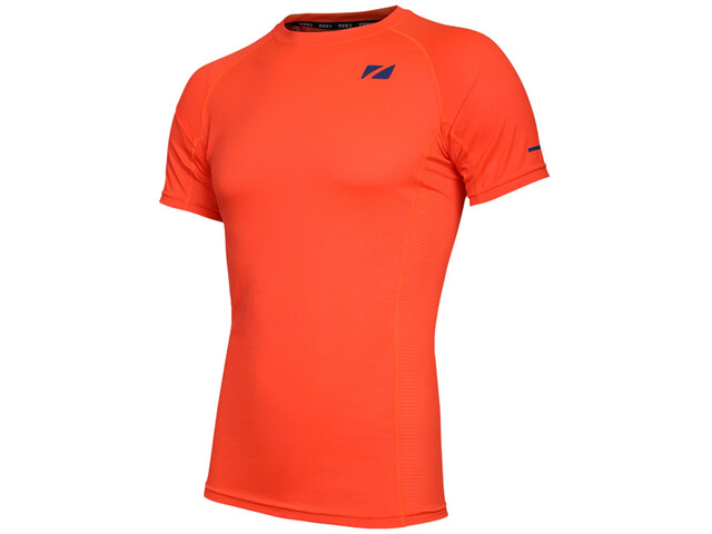 Zone3 Activ Lite CoolTech T-Shirt Men, fire orange/navy